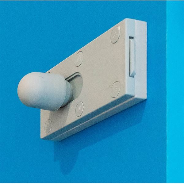 Silver Outward Opening Lock Body for SGL Cubicles