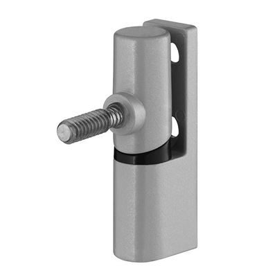 Satin Anodised Inward 18mm Cubicle Door Hinge (MFC & HPL)