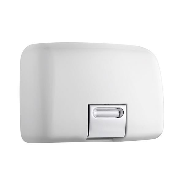 Warm Air Hand Dryer - White Metal