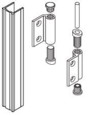 Silver 18mm (MFC&HPL) Full Height Outward Hinge Pack for HiZone and Quadro