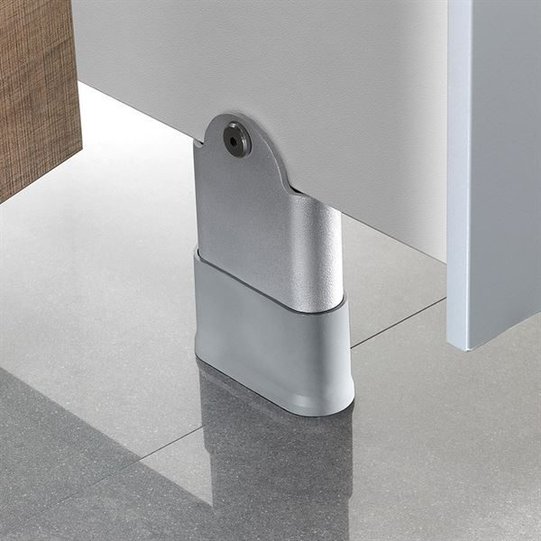 Paraline Pure 100mm Silver Grey Pedestal Leg for SGL Cubicles