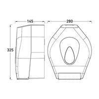 Midi Jumbo Toilet Roll Dispenser - White